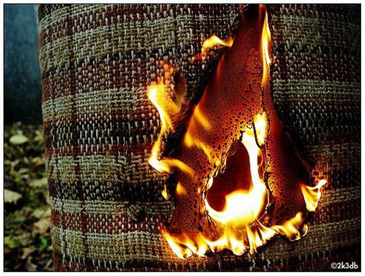 Burning Textile for Science March Blog Post